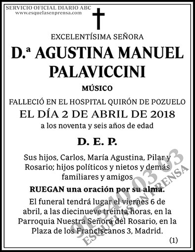 Agustina Manuel Palaviccini